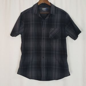 Mens Tony Hawk Black Played Button Up Large